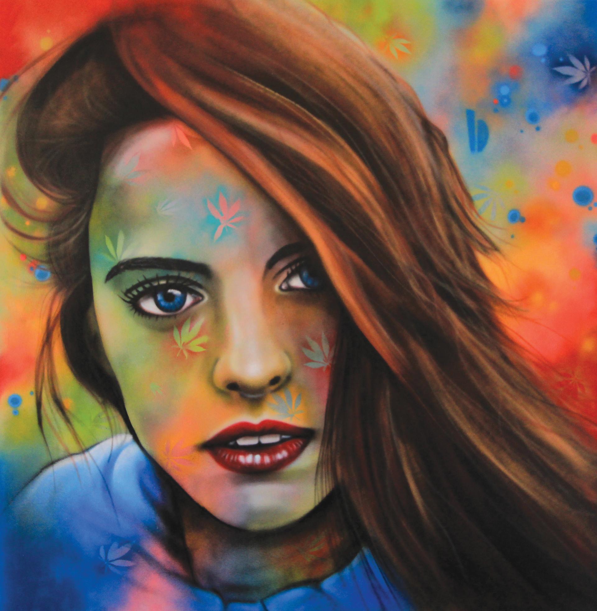 """Graffiti canvas """"Marijane fields"""" -"""