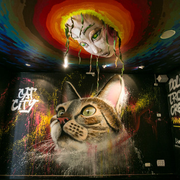 """Cat City"" - work of Nomen and Utopia, Telavive, Israel 2018"