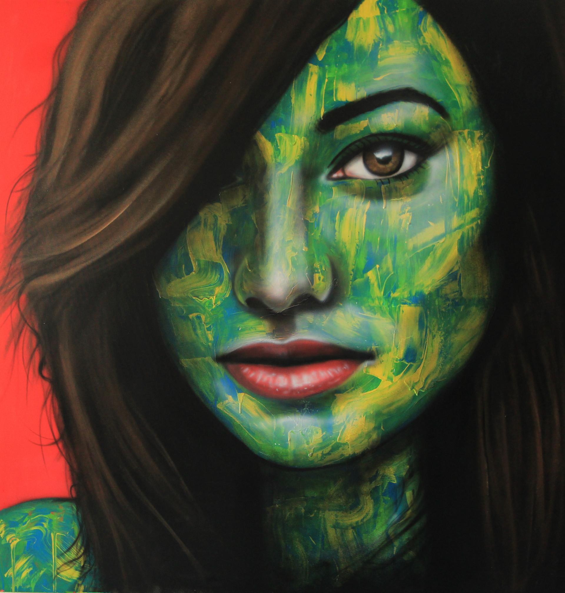 """Graffiti canvas """"The mysterie"""" -"""