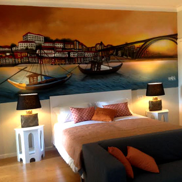 Graffiti Painted in an Hostel - Porto - Gallery Hostel - Artwork by Nomen 2015