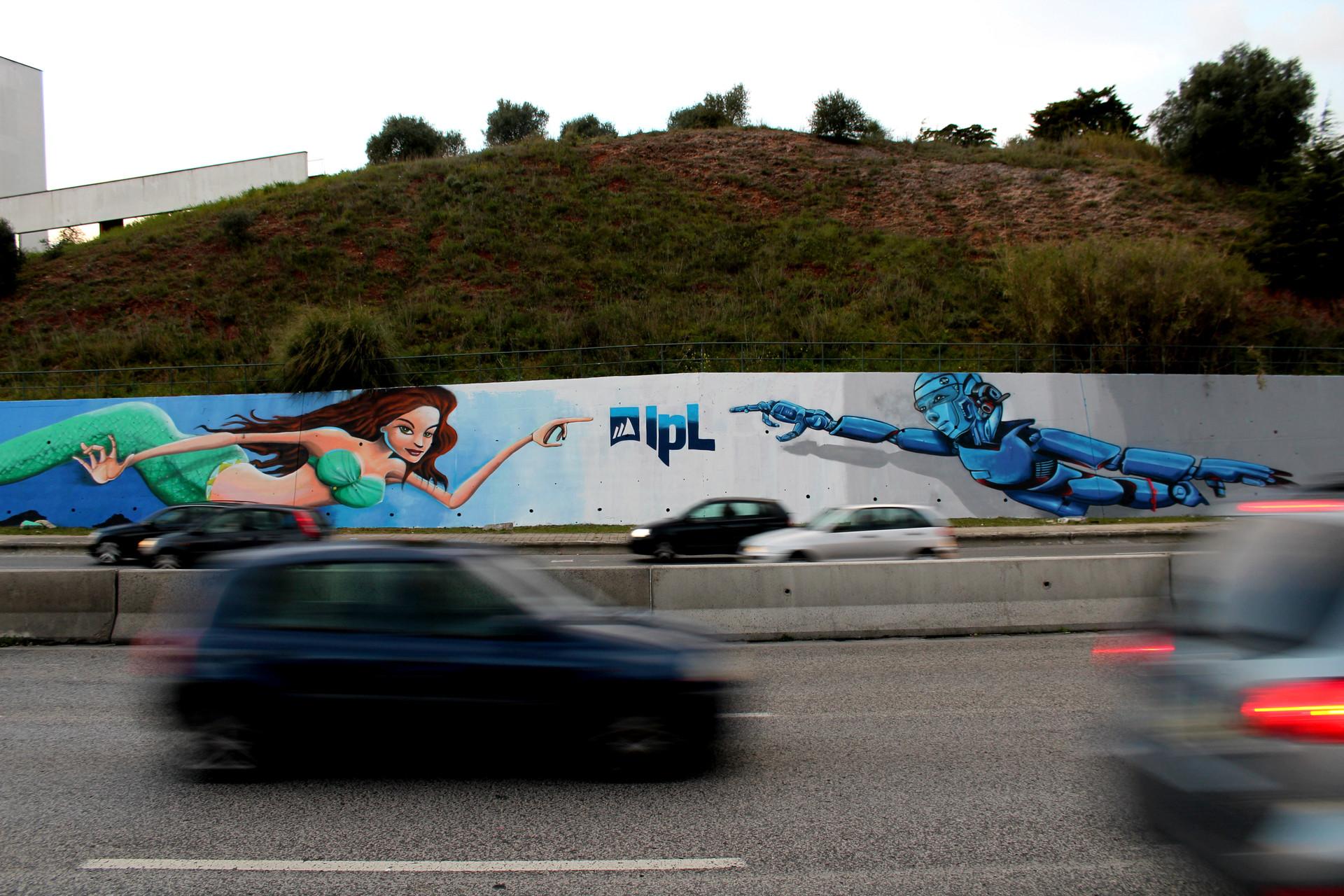 """""""Onde há ciência e arte, há sabedoria e prática"""" - Mural IPL"""