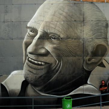 Mural tribute Prof. Moniz Pereira 1921-2016