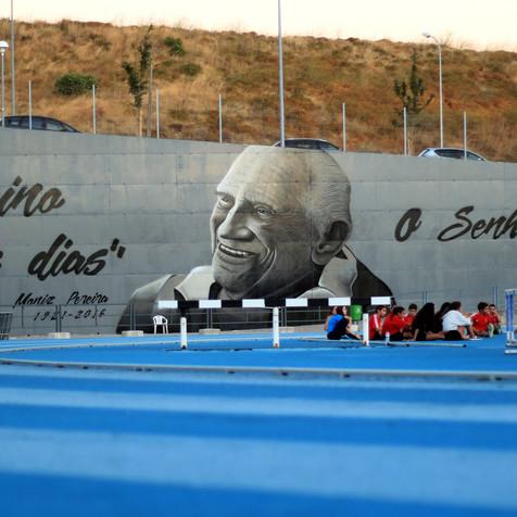 Mural Tribute to Prof. Moniz Pereira 1921-2016, by Nomen in Lisbon