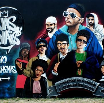 """""""Ruas Rivais"""" - Large Graffiti add made by Nomen"""
