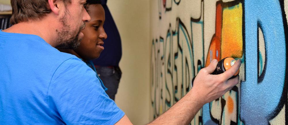 Graffiti workshop by Nomen