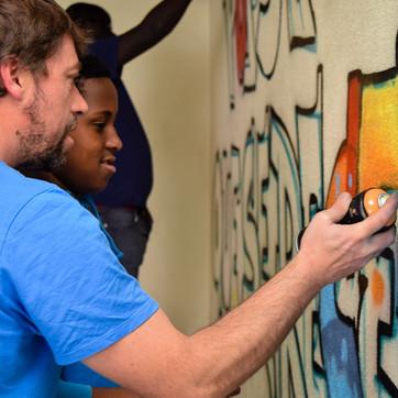 Workshop Graffiti com crianças de Idanha.