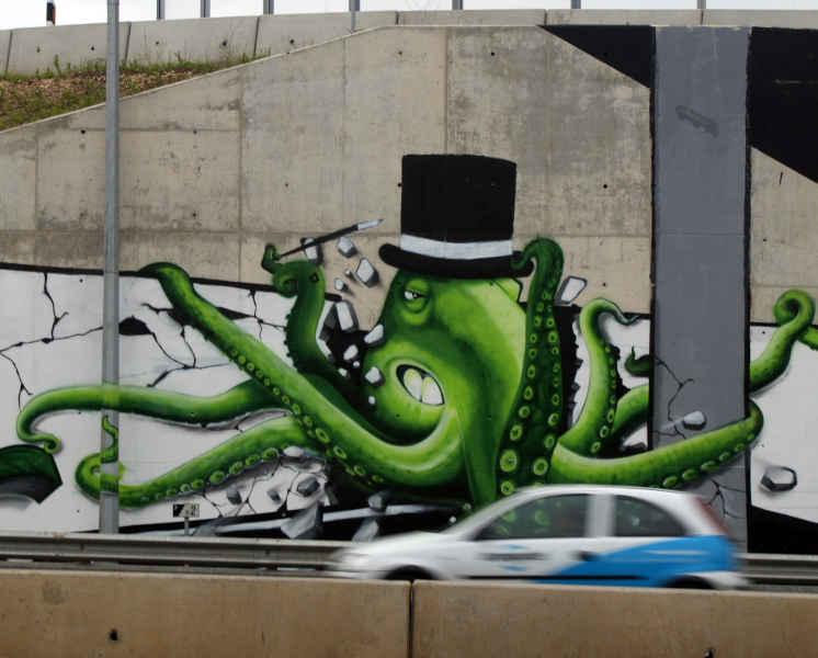 Pintado por Nomen . Mad Octopus