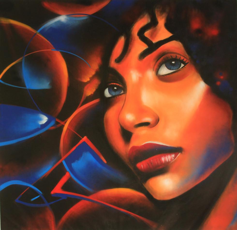 "Graffiti canvas ""African Eclipse"""