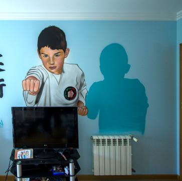 Graffiti em Quarto criança,