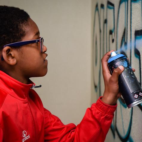 Graffiti workshop with Children from Idanha (Sintra)
