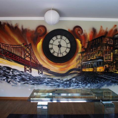 Graffiti in a Living Room - Cascais - Artwork by Nomen 2015