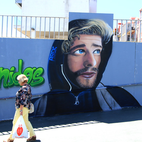 "Tribute to the artist ""Abek"" RIP - Algés train Station, Artwork by Nomen, 2017"