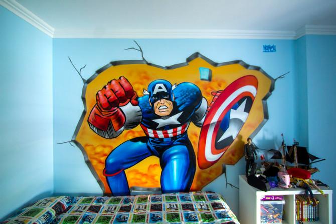 Decoração Graffiti em Quartos de Criança.