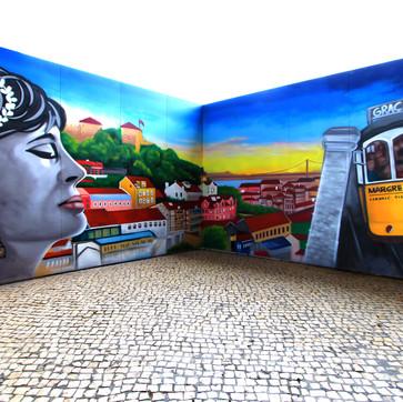 Graffiti by Nomen at the Archi Summit event, Parque das Nações, Lisboa