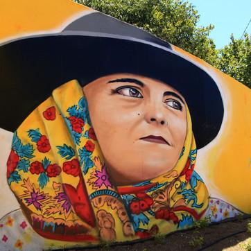 Graffiti Painting commission at Centro Etnográfico de Sete Castelos, artwork by Nomen