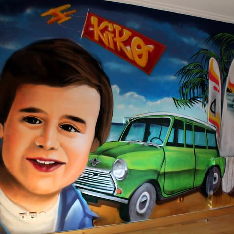 Graffiti in a chidren´s room - Lisbon - Artwork by Nomen
