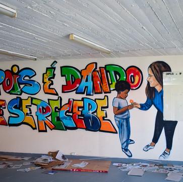 Pois é dando que se recebe - Workshop Graffiti Idanha