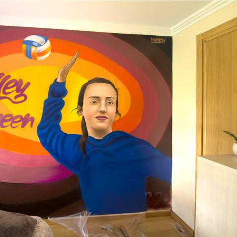 Volley Queen, Graffiti