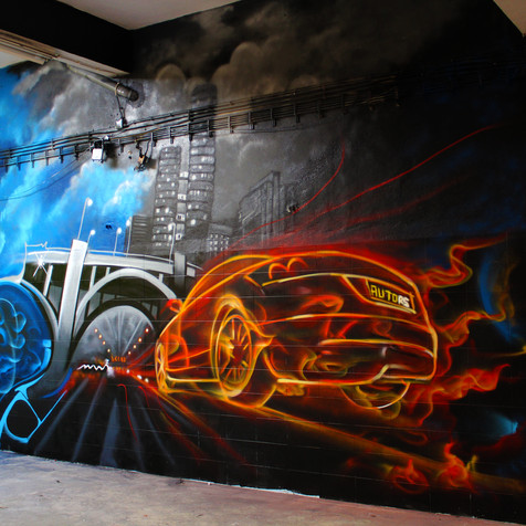 Graffiti in a Garage - Amadora - Artwork by Nomen 2015
