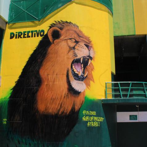 Graffiti Sporting Club Portugal - Lion Tribute