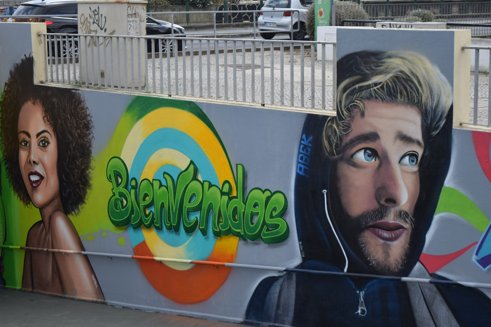 Inauguração pinturas do tunel da estação de Algés