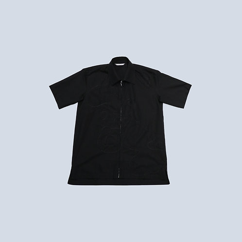 CORNERSTONE - SHORT SLEEVE TOP / BLACK