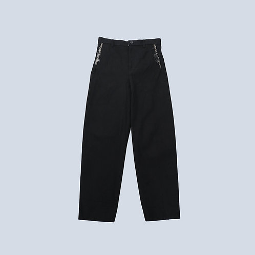 KOZABURO - 1% STRETCH DENIM YING-YANG TROUSERS