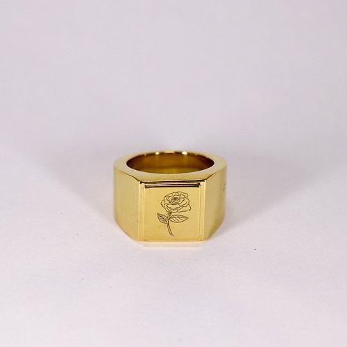 ERNEST W. BAKER - GOLD ROSE RING