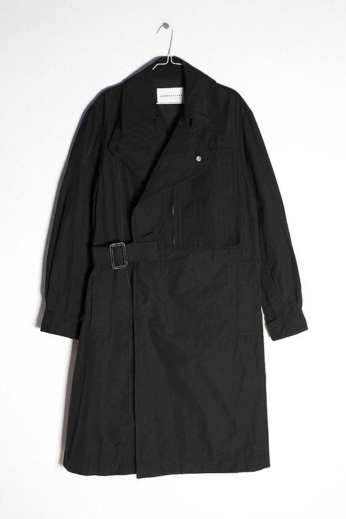 CORNERSTONE - TRENCH COAT BLACK