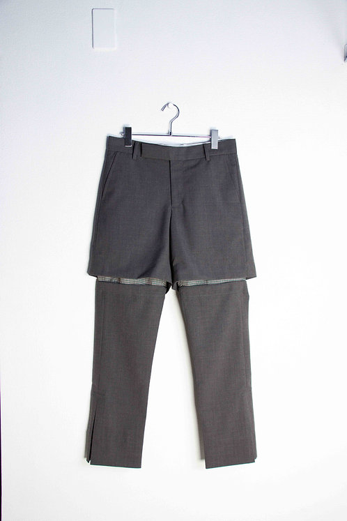 CORNERSTONE - DETACHABLE LAYERED TROUSERS