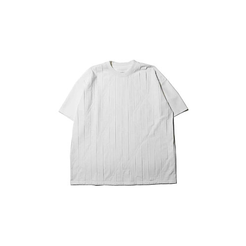 CORNERSTONE - PLEATS T-SHIRT WHITE