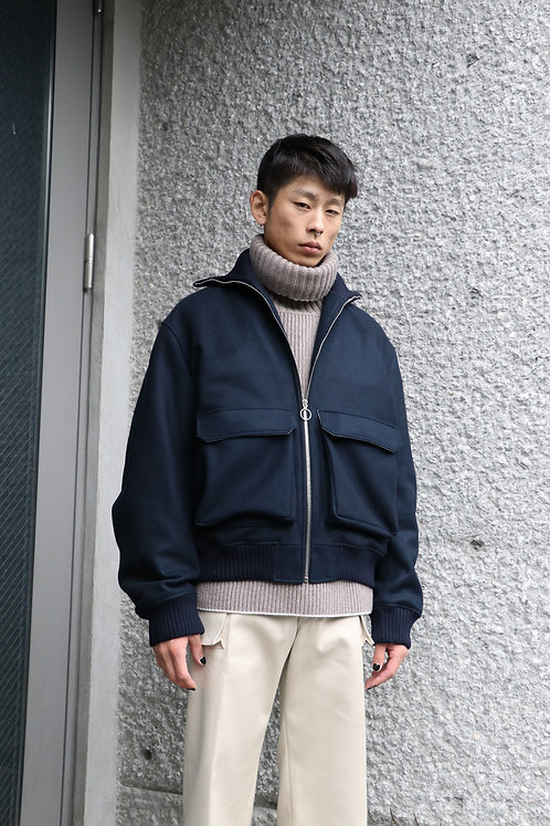 UNIFORME - OVERSIZE WOOL BOMBER JACKET