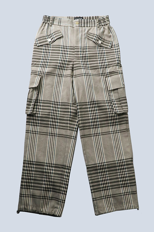 Feng Chen Wang - CARGO STRAIGHT TROUSERS /CHECK