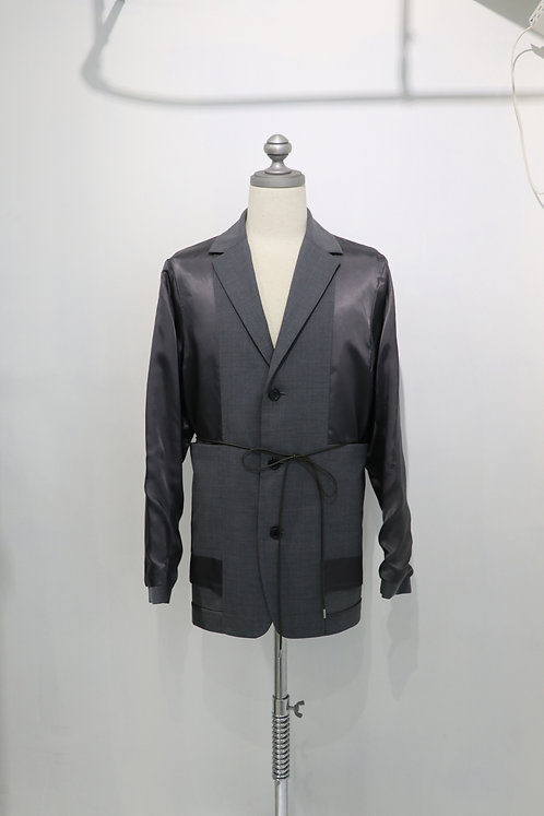 no. - INSIDE OUT JACKET /GRAY
