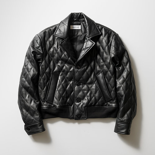 ERNEST W. BAKER - QUILTED LEATHER JACKET
