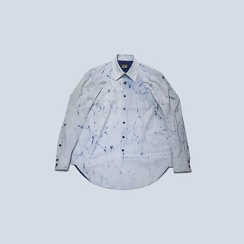 Feng Chen Wang - CHINESE RESIST DYED REVERSIBLE SHIRT