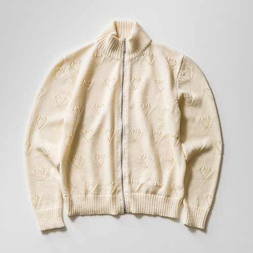 ERNEST W. BAKER - KNIT TRACK TOP /WHITE HEARTS
