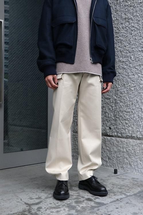 UNIFORME - WIDE-LEG COTTON PANTS