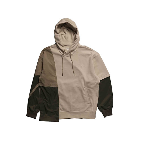 Feng Chen Wang - FRENCH TERRY PANELLED HOODIE