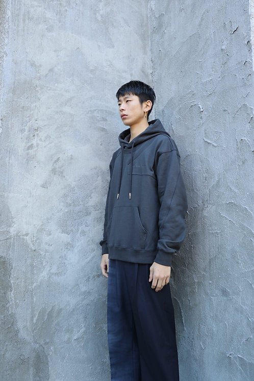 Feng Chen Wang - FRENCH TERRY COTTON LAYERED HOODIE