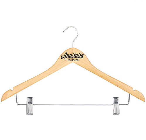 Wedding Hanger with Clips