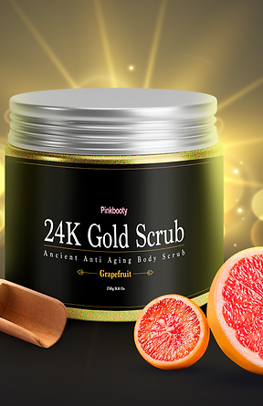 24K Gold Booty Scrub - Powerful Skin Brightener