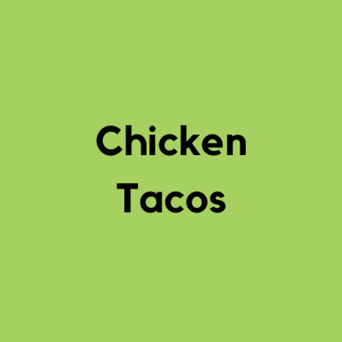 Chicken Tacos- AVAILABLE THURS-SUN 4-8 PM