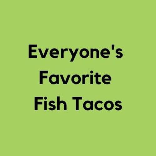 Fish Tacos- AVAILABLE THURS-SUN 4-8 PM