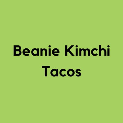 Vegan Beanie Kimchi Tacos- AVAILABLE THURS-SUN 4-8 PM