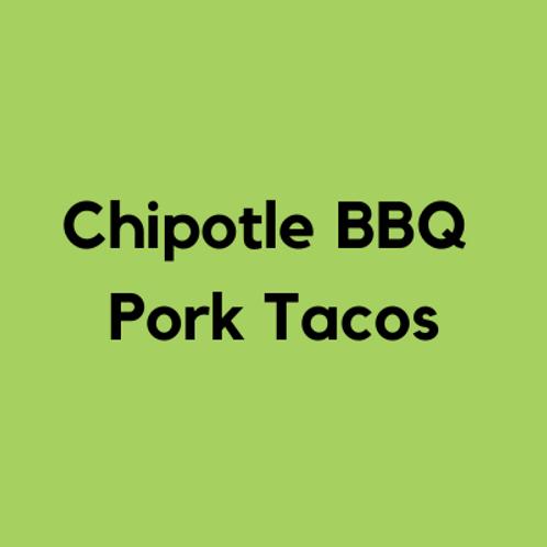 Chipotle BBQ Pork Tacos- AVAILABLE THURS-SUN 4-8 PM