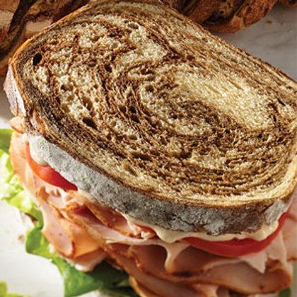 Marble Rye Sourdough Bread - Loaf