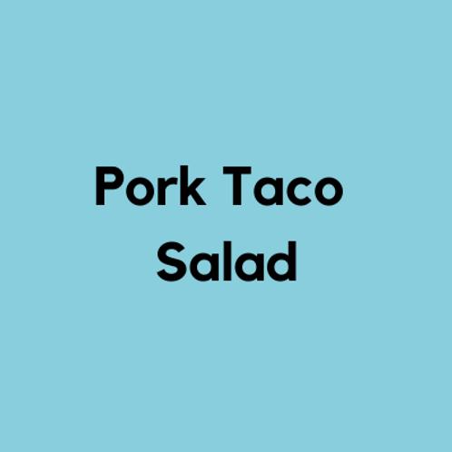 Pork Taco Salad- AVAILABLE THURS-SUN 4-8 PM