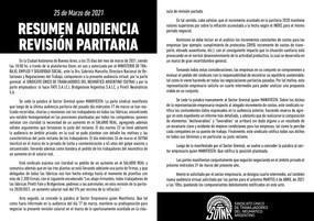 RESUMEN AUDIENCIA REVISIÓN PARITARIA