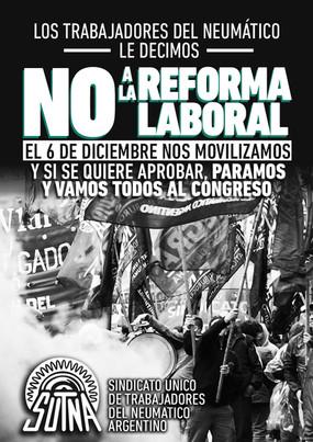 RECHACEMOS LA REFORMA LABORAL / Basta de pactos contra la vida de los trabajadores